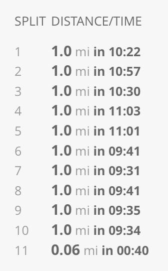 Marathon pace run