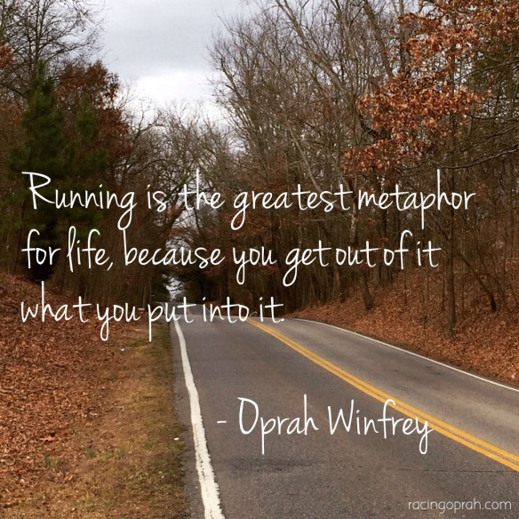 oprah running quote
