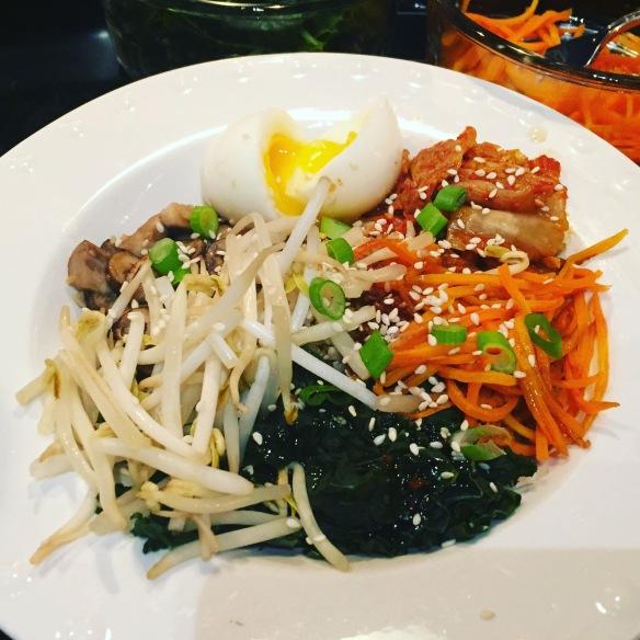 kimchi rice bowl with egg